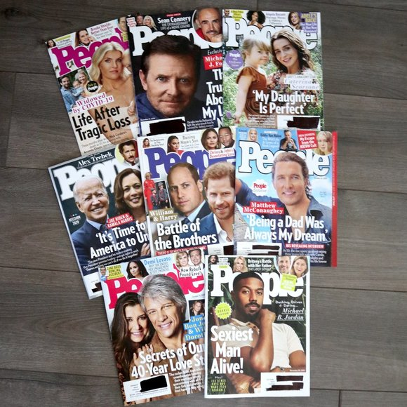 Lot of 8 People Magazines   October - November 20